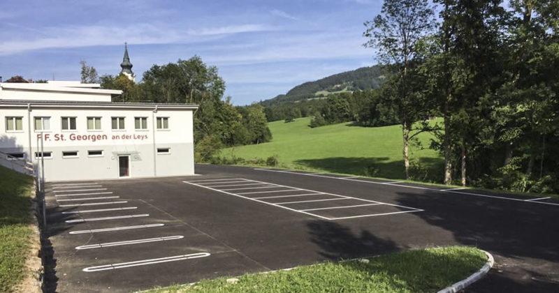 Firmenparkplatz Markierung