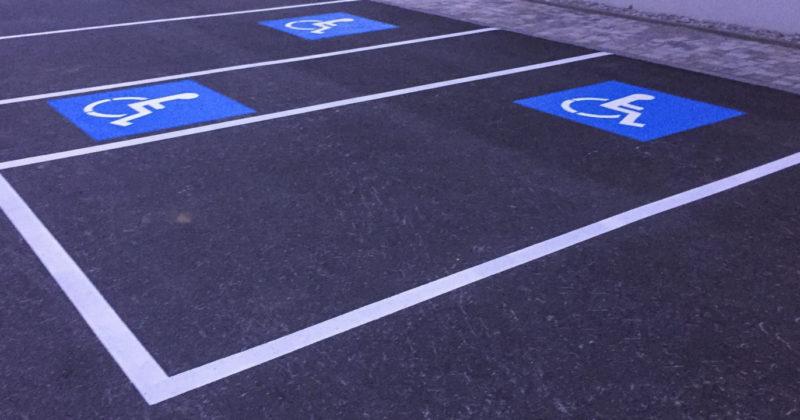 Behinderten Parkplatz Markierung